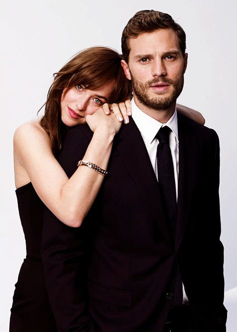 New photos of Jamie & Dakota / Fifty Shades Of Grey / Christian Grey / Jamie Dornan / Dakota Johnson / Anastasia Steele / 50 Shades / love them