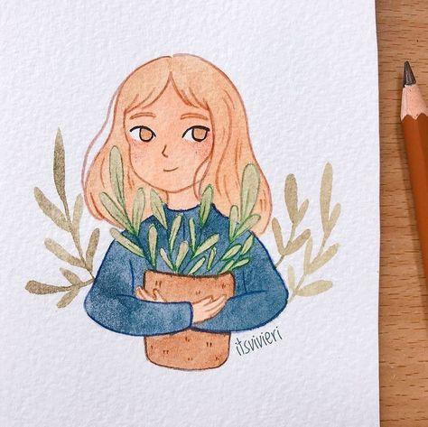 рисунок девушки/рисунок арт