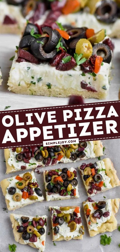 Olive Pizza Appetizer