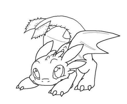 17 Trendy How To Train Your Dragon Toothless Cute Baby Dragon Coloring Page How Train Your Dragon Baby Dragons Drawing