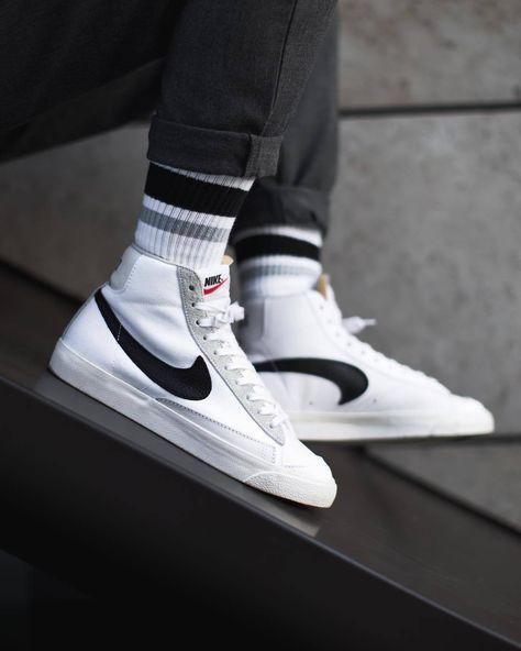 Sneaker Outfits, Converse Sneaker, Puma Sneaker, Nike Blazers Outfit, Blazer Outfits Men, Nike Outfits, Sneakers Mode, Sneakers Fashion, Nike Skateboarding