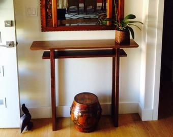 Very Narrow Console Table For Small Spaces Hall Table Entry