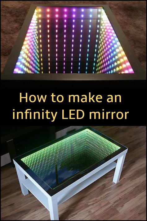 How To Make An Infinity Led Mirror Infinity Mirror Diy Infinity Mirror Led Mirror