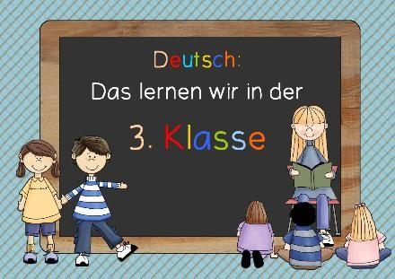 Lernziele Deutsch für die 3. Klasse