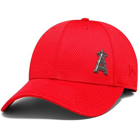 76d43610645d9 Los Angeles Angels of Anaheim Oakley 9FORTY Trucker Snapback Adjustable Hat  - Red