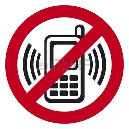 Vector No Cell Phone Sign Warning Sign Indicating Cell Phones En 2020 Tipos De Senalizacion Digitales Dibujos Siluetas