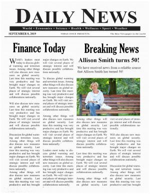 Create A Newspaper Template from i.pinimg.com