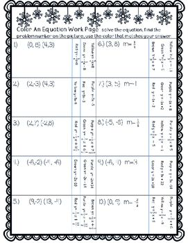 point slope form matching activity  Winter Point-Slope-Form Practice | Middle School Math | Math ...