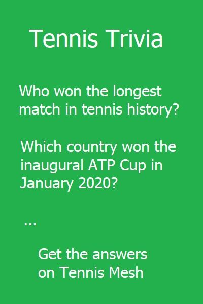 Tennis Trivia Quiz Facts On Tennis Mesh In 2020 Trivia Tennis Trivia Questions