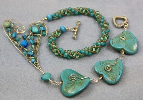 """Jenny Argyle - """"Turquoise Heart on a Wire"""""""