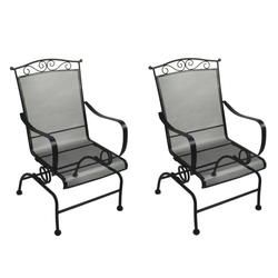 Backyard Creations Wrought Iron Spring Action Dining Patio Chair