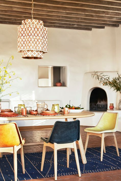 Ready for a new seasonal look in your dining room? This season's decor and furnishing choices from Anthropologie can give you an entirely new look for those balmy-night hang outs. Mix and match your seating with their Rylie Dining Chair and see your space transform.