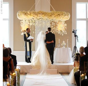 The Couple Incorporated Jewish And Catholic Traditions Like Marrying Under A Huppah Lighting Unity Candle
