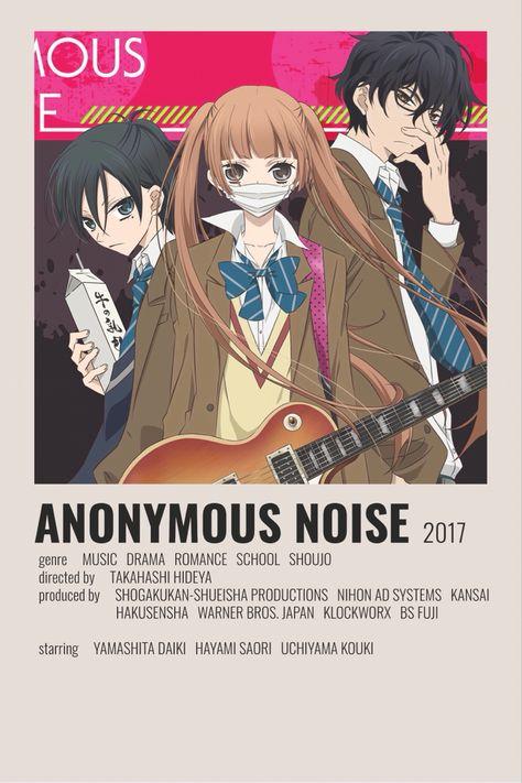 Anonymous noise minimalist poster