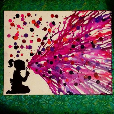30+ Cool Melted Crayon Art Ideas