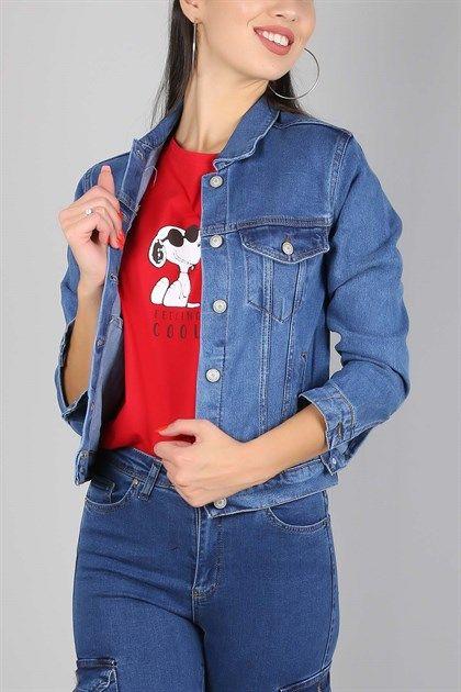 Mavi Cepli Kisa Bayan Kot Ceket 545k 89 95 Tl Trend Giysen 2020 Kot Ceket Moda Stilleri Moda