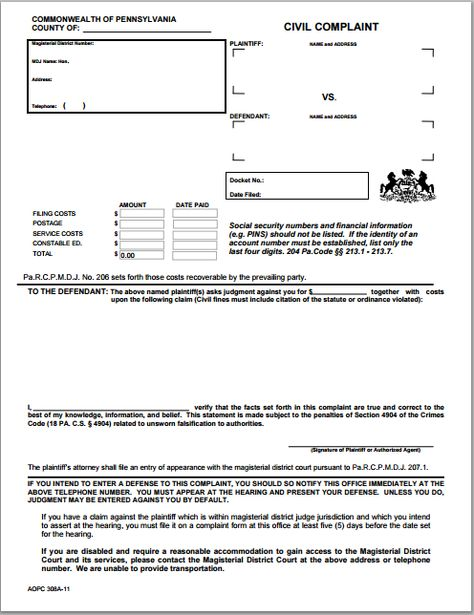 Generic blank complaint form at worddoxorg Microsoft Templates - civil complaint template