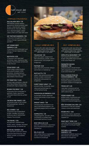 Best Deli Menu Templates Easy To Customize Musthavemenus Sandwich Menu Deli Sandwiches Menu Design Template