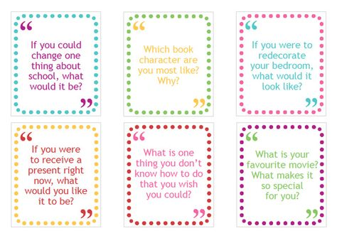 graphic about Printable Conversation Cards titled Pinterest