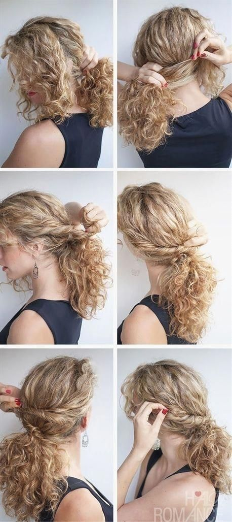 Hair Romance Curved Lace Braid Updo Hairstyle Tutorial Curlyhairstyles Hairupdos Hair Updo Hairstyles Tutorials Curly Hair Dos Curly Hair Styles Naturally