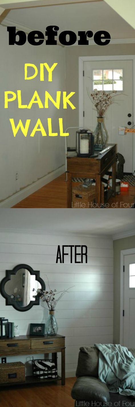 DIY Plank wall for $50.00