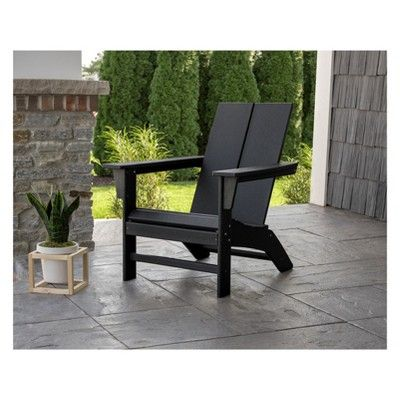 Polywood St Croix Contemporary Adirondack Black With Images
