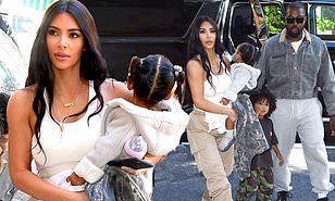 Kim Kardashian Joins Kanye West And Kids North Saint And Chicago In 2020 Kanye West Albums Kanye New Album Kim Kardashian And Kanye