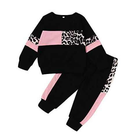 Toddler Baby Girls Sweatshirt Leopard//Tie Dye Casual Blouse Top Fashion Pullover Shirt Fall Winter Outfit