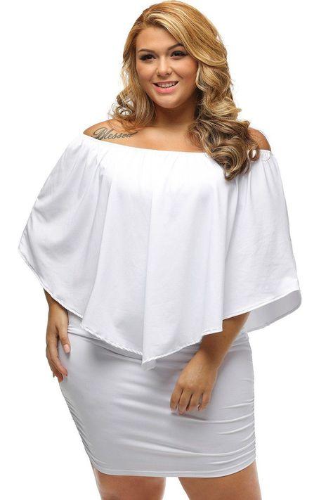 cfecd9b98b9f Multi-way Layered Ruffle White Mini Plus Size Dress ChicLike.com #White