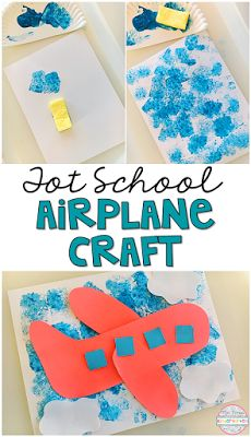 Transportation Adorable airplane craft for tot school, preschool and kindergarten classrooms!Adorable airplane craft for tot school, preschool and kindergarten classrooms! Preschool Transportation Crafts, Airplane Activities, Airplane Crafts, Art Activities, Preschool Crafts, Toddler Activities, Airplane Art, Summer Activities, Transportation Theme For Toddlers