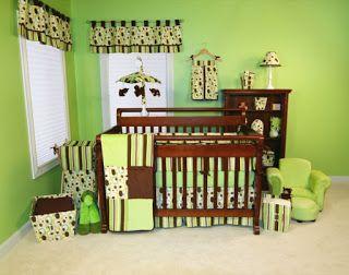 Chambre bébé fille en nuances de vert inspirantes | Room