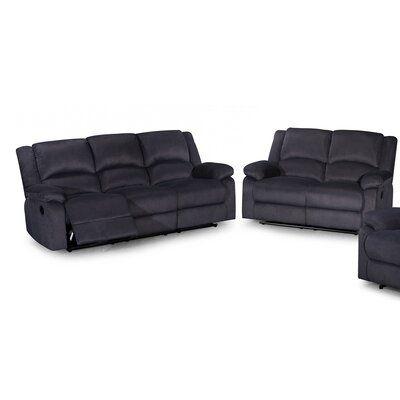 Red Barrel Studio Ojas 2 Piece Reclining Living Room Set Colour Dark Grey In 2020 3 Piece Living Room Set Reclining Sofa Grey Sofa Set
