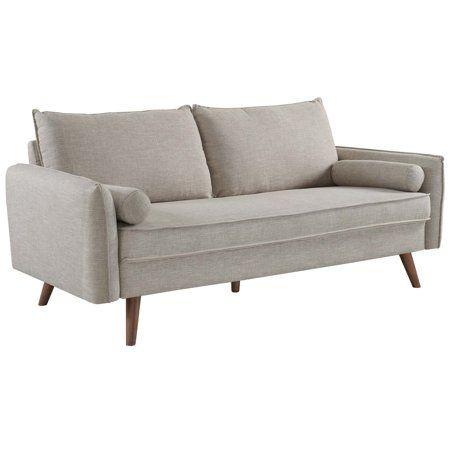 Modern Contemporary Urban Design Living Room Lounge Club Lobby Sofa Fabric Beige Walmart Com Beige Fabric Sofa Fabric Sofa Upholstered Sofa