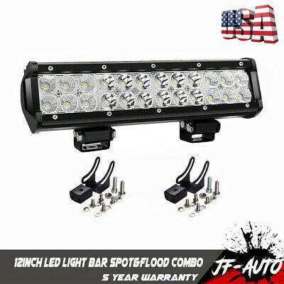 Sponsored Ebay 12 Inch Led Work Light Bar Spot Flood For Polaris Honda Yamaha Can Am Suzuki Led Work Light Work Lights Bar Lighting