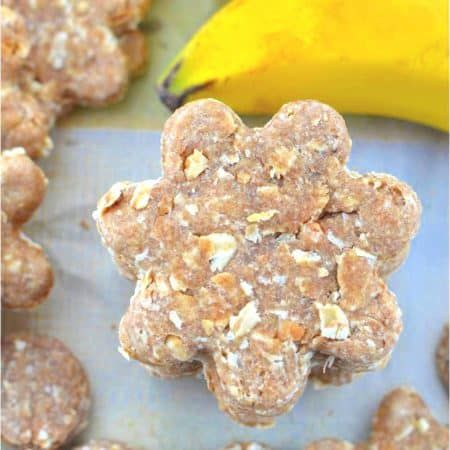 Peanut Butter Oatmeal Banana Dog Treats Recipe Banana Dog