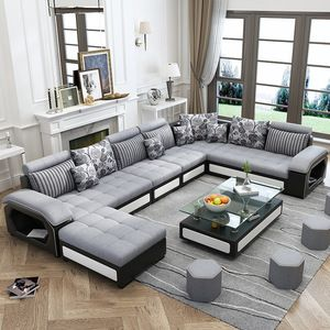Source Luxury U Shape Genuine Leather Corner Sofa Modern Fashion Creative Combinat Living Room Sofa Set Furniture Design Living Room Living Room Sets Furniture