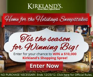 Enter to win $10,000 from Kirklands Home for the Holidays Sweepstakes (or other INSTANT prizes)