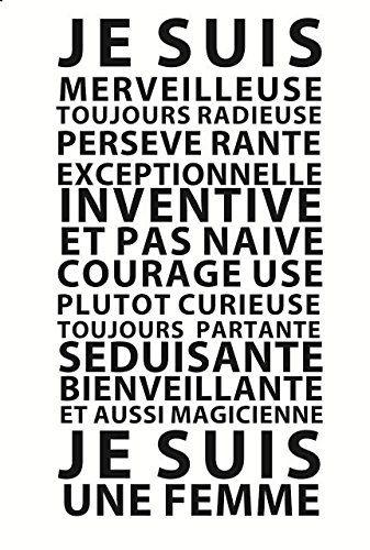 """Stickers Design et sophistiqué """"Je suis une Femme"""" by GALI ART  Revendiquez vos qualités et décorez votre mur ou un meuble avec cet adhésif exclusif qui résonne comme un leitmotiv. Vous êtes merveilleuse, et maintenant, tout le monde le sait!!! gali-art.com"""