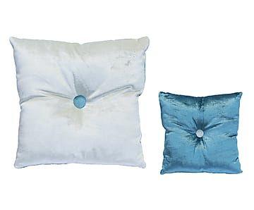 Cuscini Celesti.Cuscino Mignon In Velluto Celeste Azzurro 30x12x30 Cm Cuscini