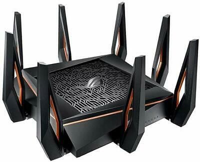 Asus Rog Rapture Gt Ax11000 Tri Band Wifi 6 802 11ax Aimesh Gaming Router 10gig In 2020 Gaming Router Vpn Router Gigabit Router