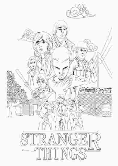 Stranger Things Season 1 Coloring Pages Com Imagens Desenho De