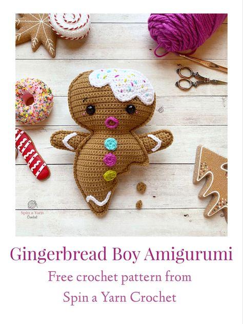 Crochet Christmas Ornaments, Christmas Crochet Patterns, Holiday Crochet, Christmas Knitting, Crochet Home, Cute Crochet, Crochet Crafts, Crochet Projects, Christmas Crafts