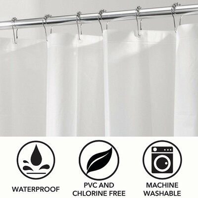 Symple Stuff Jalbert Heavy Duty Shower Curtain Rod Size 72 H X
