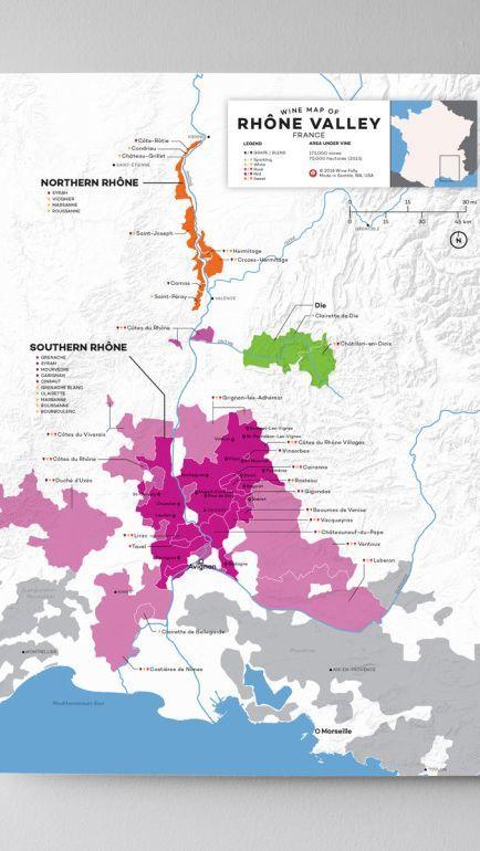 France Rhone Valley Wine Map Wine Map Cote Du Rhone Wine Folly