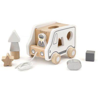 Vormenstoof Auto Gevuld Speelgoed Speelgoedkist Houten Speelgoed