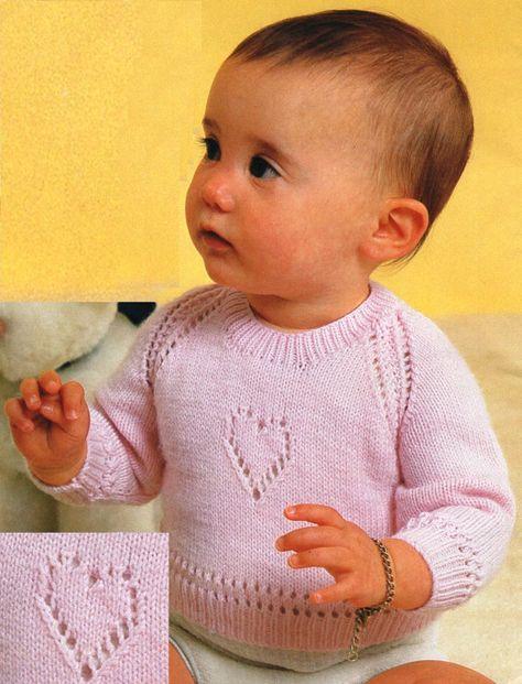 3b7f6d5dc PDF Pattern   Vintage Baby Knitting Pattern   Sweetheart