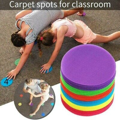 Advertisement 30pcs Carpet Markers Portable Positioning Circle Stikcers Spot Markers For Kids In 2020 Rugs On Carpet Blackboard Sticker