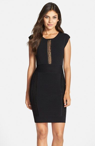 5779284177 French Connection  Danni  Lace Inset Body-Con Dress available at  Nordstrom