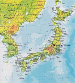 Elevation Map Of Japan With Roads And Cities Tourist Map Asia Map Map