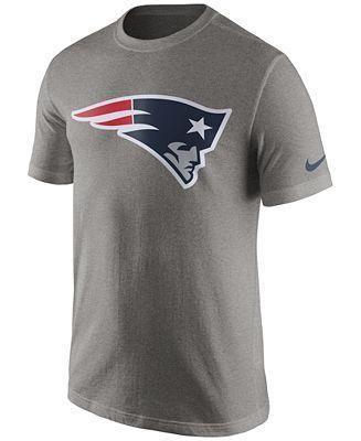 Men S New England Patriots Nike Gray Essential Logo T Shirt In 2020 Shirts Nike Men T Shirt